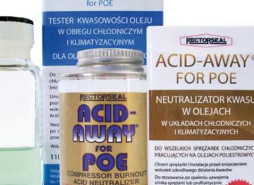 Produkty do badania i neutralizowania kwasu w olejach chłodniczych