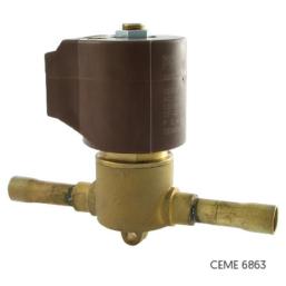 Zawór elektromagnetyczny CEME 6863 do czynników chłodniczych