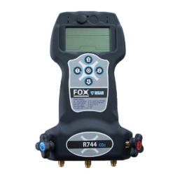 Elektroniczny zestaw manometrów do układów na dwutlenek węgla (CO2 / R744) Wigam Fox-R744