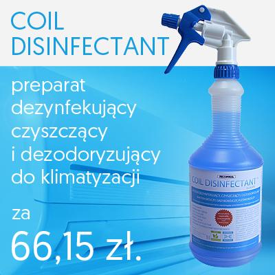 Preparat do dezynfekcji klimatyzatorów i systemów klimatyzacji Coil Disinfectant promocja