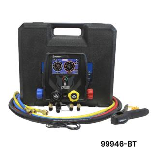 Analizator elektroniczny Mastercool Spartan 99946-BT - zestawy zaworowy, manometrów, oprawa