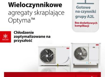 Wieloczynnikowe agregaty chłodnicze Danfoss Optyma na czynniki chłodnicze A1 i A2L